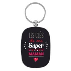 """<FONT size=""""5pt"""">Porte-clés Ma super maman  - <B>7,00 €</B> </FONT>"""