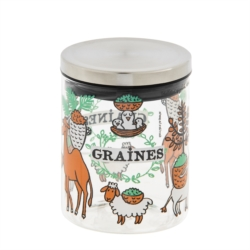 """<FONT size=""""5pt"""">Bocal à graines animaux - <B>9,00 €</B> </FONT>"""