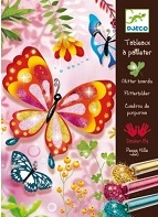 """<FONT size=""""5pt"""">Tableau à pailleter Papillons - <B>16,00 €</B> </FONT>"""
