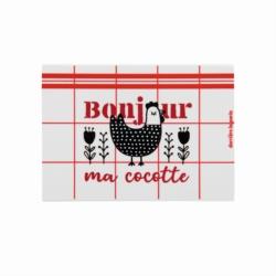 """<FONT size=""""5pt"""">Porte-éponge Bonjour ma cocotte - <B>11,00 €</B> </FONT>"""