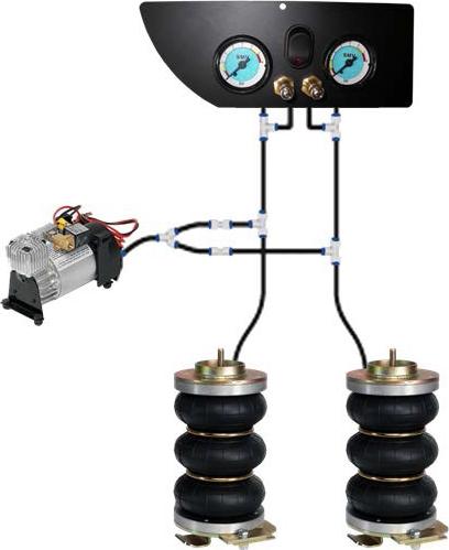 Wir bieten die Zusatzluftfederung nur als Zweikreisanlagen an!