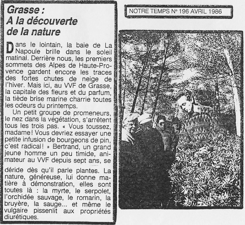 """Revue """"Notre Temps"""" Avril 1986"""