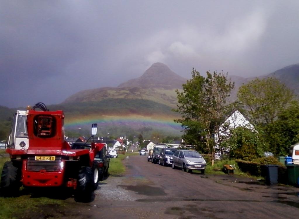 Regenboden in Schottland