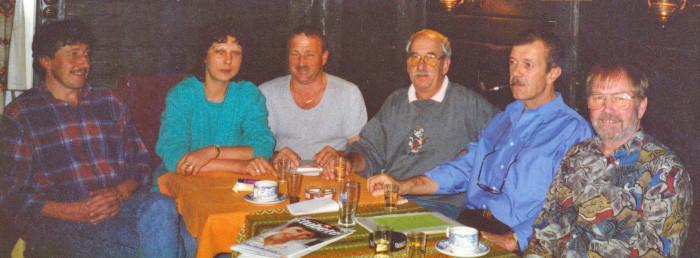 1999 Comité De gauche à droite: Frédy Gisiger, Maya Wermuth, Fritz Ruchti, Dino Boldini, J-P. Amez-Droz, Werner Nydegger. Manque Rudolf Spycher