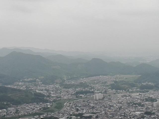 桐生市吾妻山頂上からの眺め。菱町方向