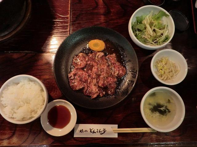 桐生市新宿にある焼肉どんさん亭のランチ