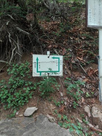 吾妻山登山 男坂と女坂に道が分かれます