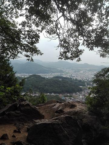 トンビ岩からの眺め