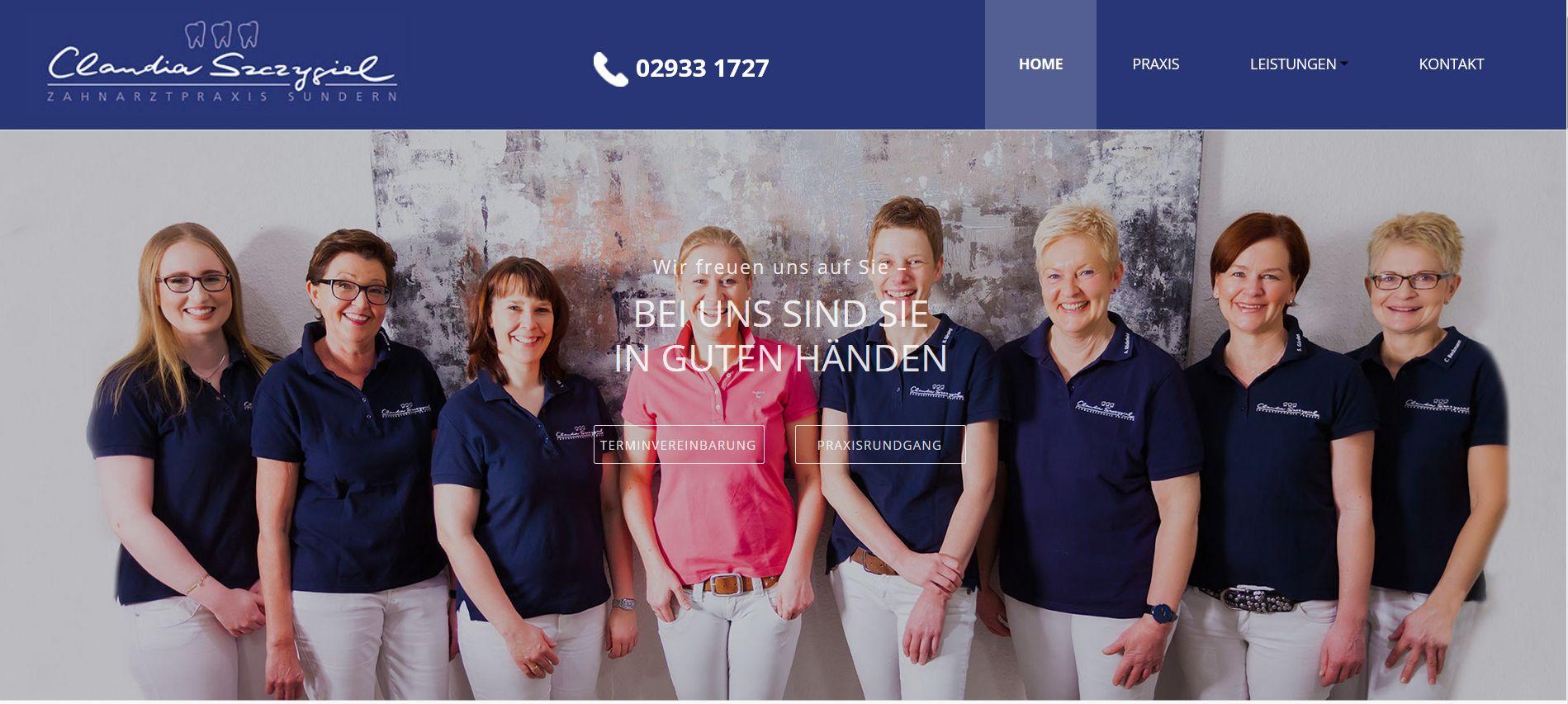 Claudia Szczygiel: inhaltliche Gestaltung neue Website