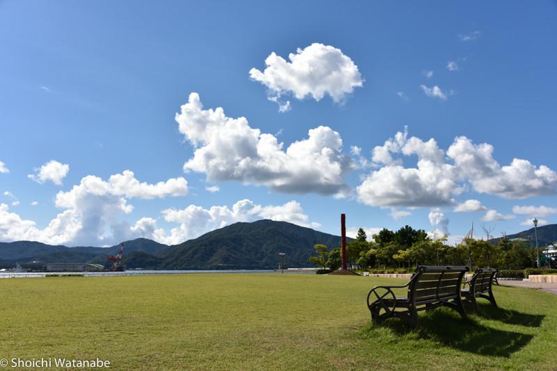 まずは敦賀で撮影。お天気がいいのでなんでも素敵になります。