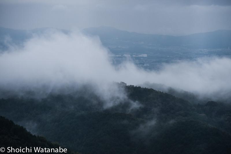 雨が止んで山から靄が出てきました。ちょこっと撮影。