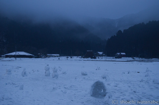 ところどころに作られている雪だるまがかわいい