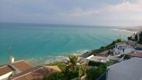 Vistas desde la terraza privada del apartamento. Imagen obtenida por nuestros clientes. ¡Muchas gracias! Ada  Calypso Apartamento. www.adapeniscola-apartamentos.com