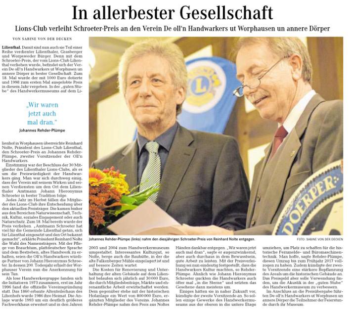 Quelle: Wümme-Zeitung vom 15.10.2016