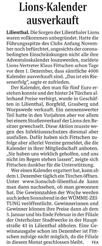Quelle: Wümme-Zeitung vom 01.12.2020