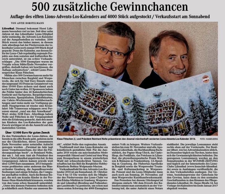 Quelle: Wümme-Zeitung vom 28.10.2016