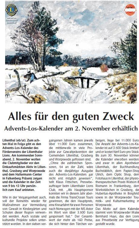 Quelle: Osterholzer Anzeiger vom 30.10.2013