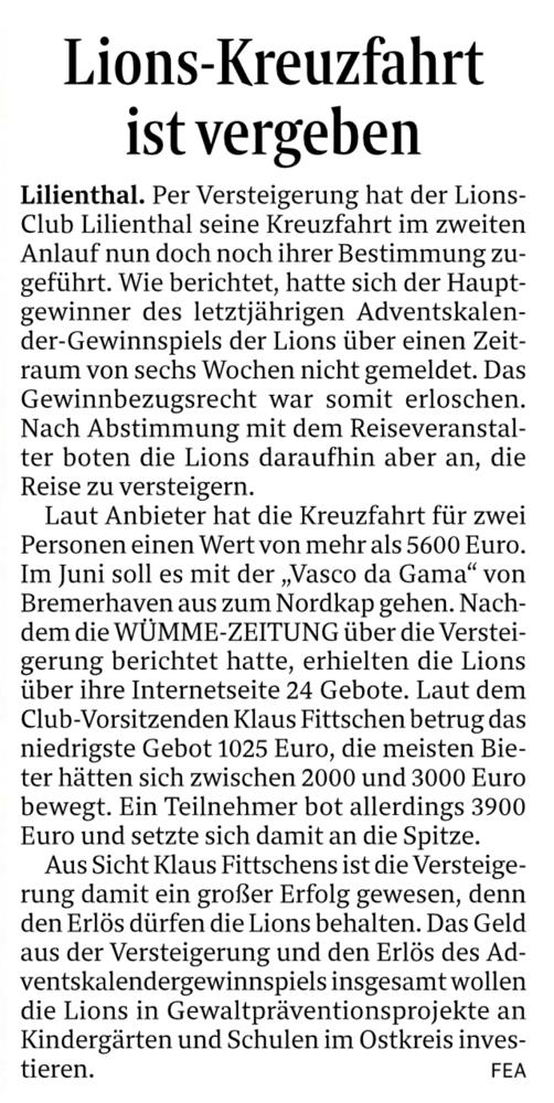Quelle: Wümme-Zeitung 26.02.2019