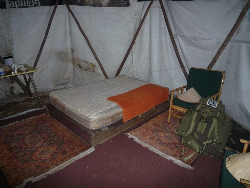 Mein Bett im Roundhouse