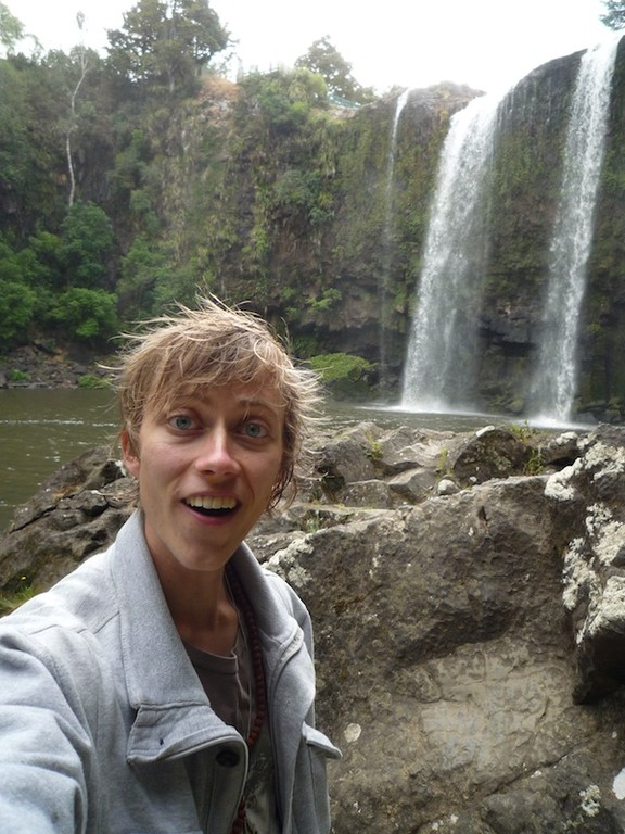 saying AWESOME - whangarei falls
