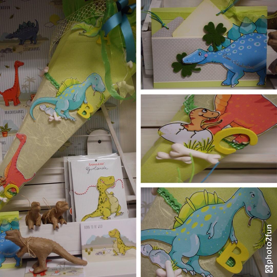 Schultüte Dinosaurier Krima+Isa Motiv