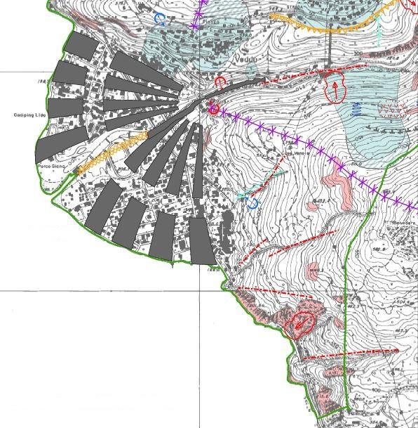 Cartografia geologica e identificazione dissesti, conoide sul Lago Maggiore