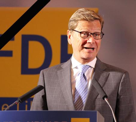 Dr. Guido Westerwelle bei einem Besuch in Mönchengladbach im Jahr 2013
