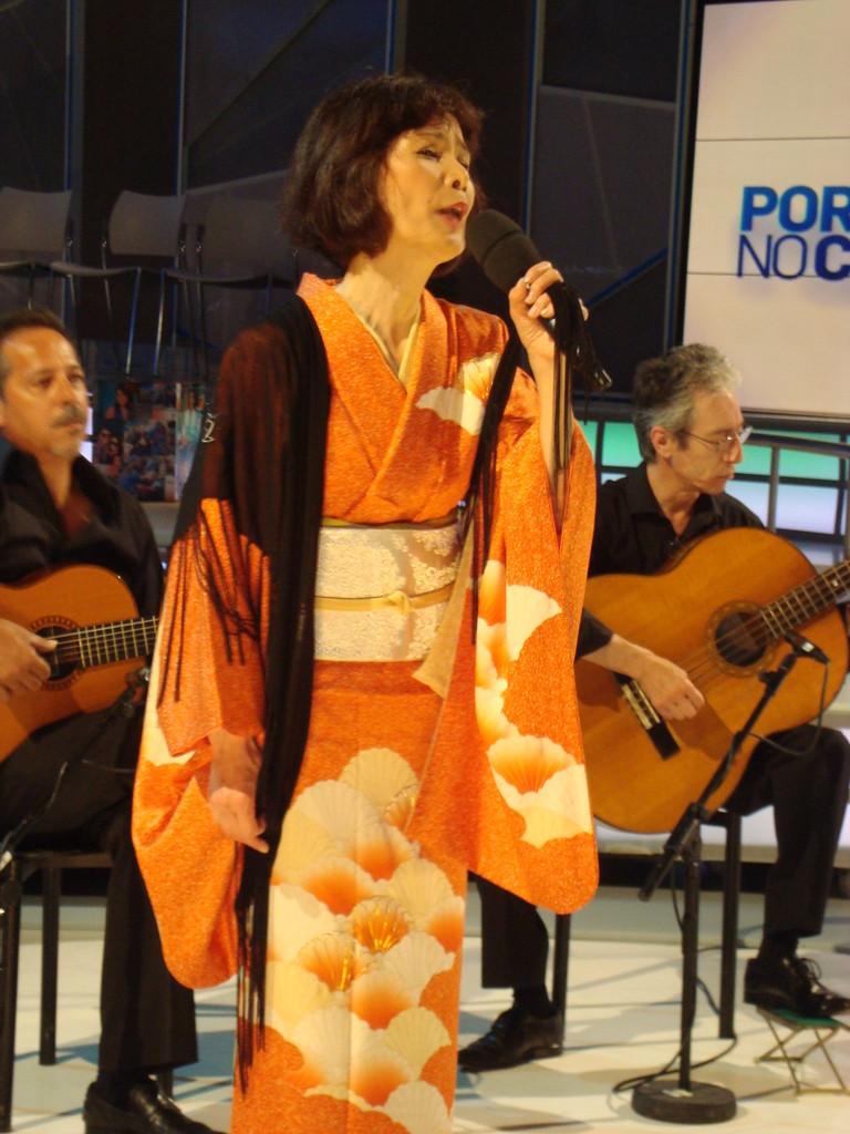着物が似合う陽子さんです。素敵です。
