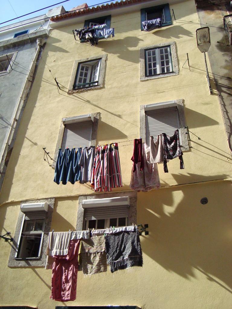 洗濯物が似合う街。