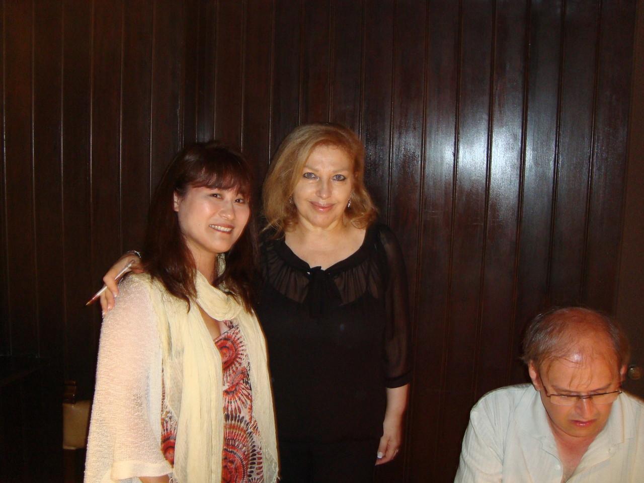 大好きなファディスタ! レニータゼンティルさんと再会しました。私の目指すファディスタです。