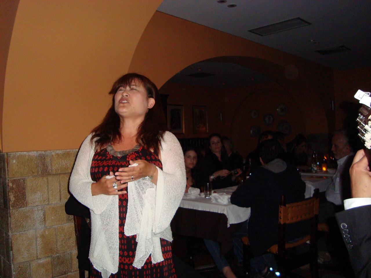 私も歌いました。