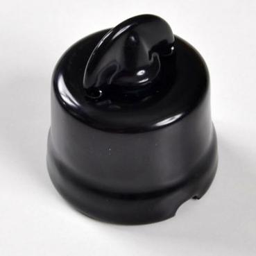 interruttore #deviatore #pulsante #rotativo #ceramica #porcellana #nero