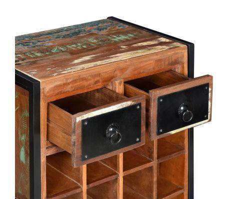 cantina +cantinetta +porta bottiglie +vino +legno +massello +riciclato +anticato
