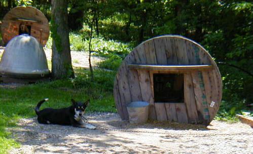 cuccia +cane +riciclo +bobina legno +animali +sandro +shop +online +shopping +vendita +pallet +arredo giardino