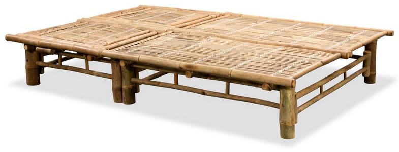 lettino #prendisole #bambù #bamboo #due posti #regolabile #arredo giardino #esterni