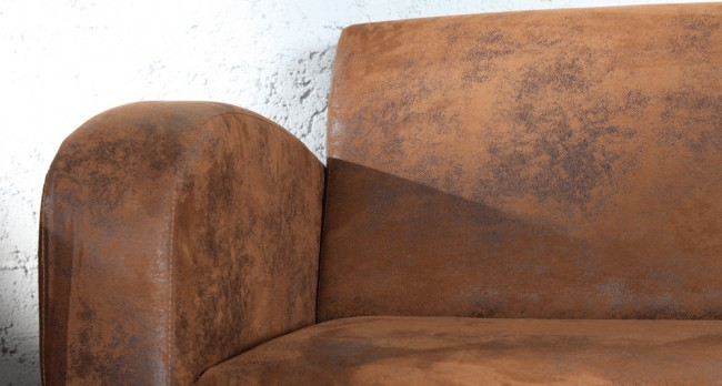 divano due posti vintage used look similpelle cuoio vendita online