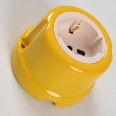 Presa universale #porcellana #giallo #colorata #FAI