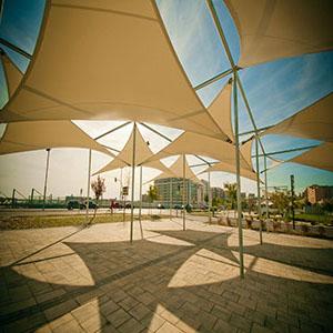vela #tenda #traspirante #triangolare #ombreggiante #sabbia #applicazione