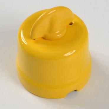 interruttore #deviatore #pulsante #rotativo #ceramica #porcellana #giallo
