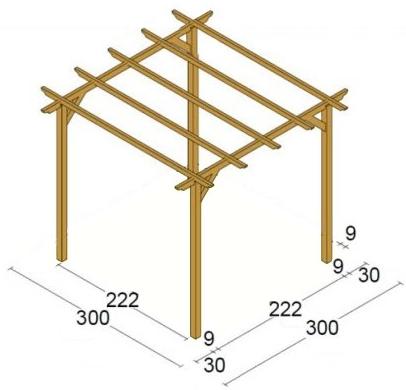 dimensioni pergola legno sandro online shopping