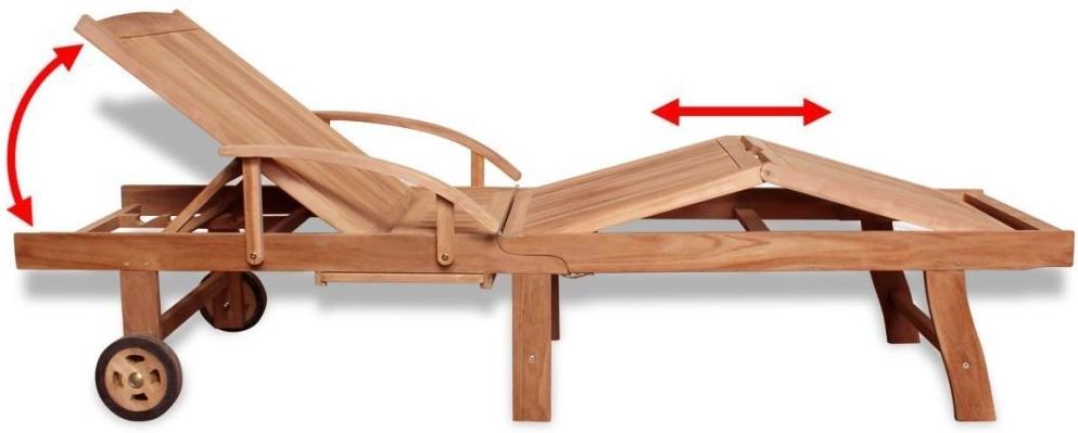 lettino sdraio +legno +teak +arredo giardino +mobili esterno +sandro shop