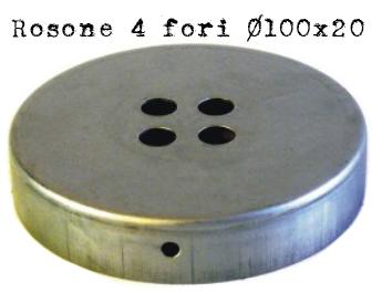 rosone #4 #uscite #lampade #portalampade #vintage #industriale #fori #diametro 100 #ferro #metallo