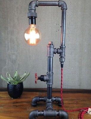lampada +tubi +raccordi +idraulici +vintage +Steampunk +industriale +loft +urbano +fai da te +abat jour +da tavolo