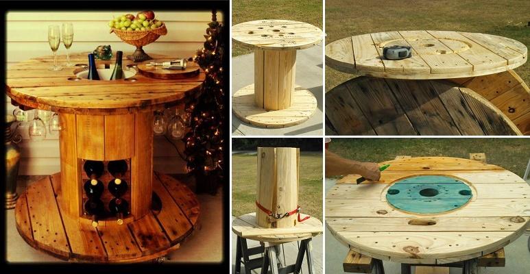 tavolo +riciclo +bobina +cavi +legno +arredo +sala +sandro +shop +online +shopping +esterni +giardino +pallet +flangie