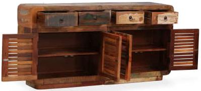 credenza #vintage #legno #recupero #riciclato #industriale #4 ante #cassetti