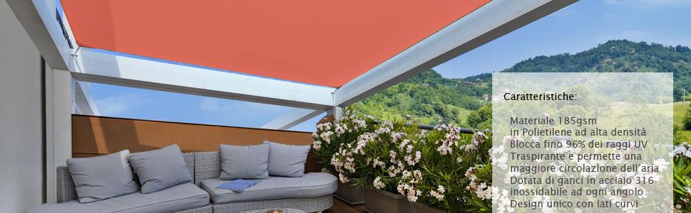 CelinaSun Tenda Parasole a Vela Giardino Balcone HDPE polietilene Traspirante Rettangolare 2,5 x 5 m Verde