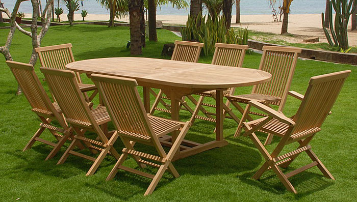 Set in teak bordeaux benvenuti su sandro shop for Set da terrazzo