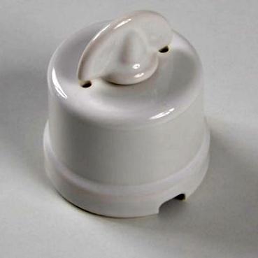 interruttore #deviatore #pulsante #rotativo #ceramica #porcellana #bianco