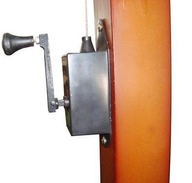 ombrellone +manovella +decentrato +laterale +braccio +legno +4x3 +3,5 +3x3