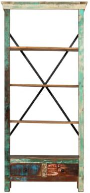 libreria #riciclato #recupero #vintage #industriale #arredo #multicolore #artigianale #legno